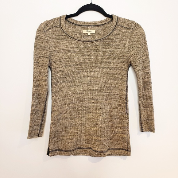 Madewell Waffle Knit Side Button Thermal